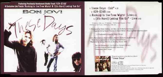 BON JOVI - These Days Vinyl