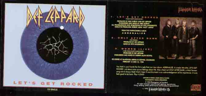 Def Leppard - Let's Get Rocked ( Pressed In Gemany )