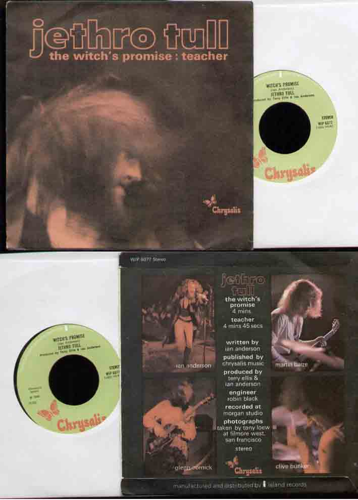 Jethro Tull Witchs+Promise 7''