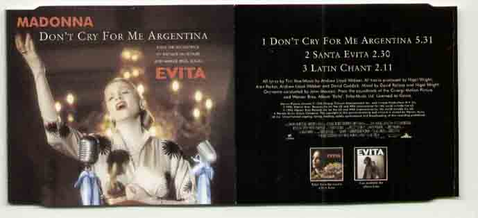 Madonna - Don�t Cry For Me Argentina