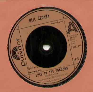 Neil Sedaka Love+In+The+Shadows 7''
