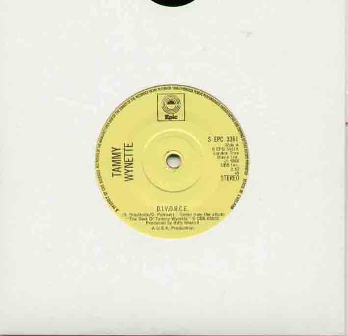 Tammy Wynette Divorce 7''