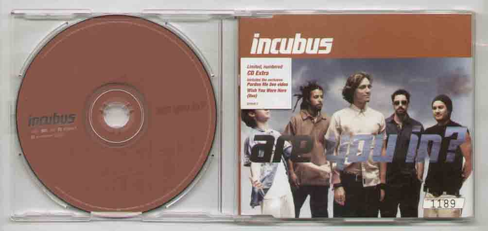 Incubus Are+You+In CD