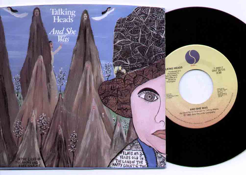 Talking Heads And+She+Was 7''