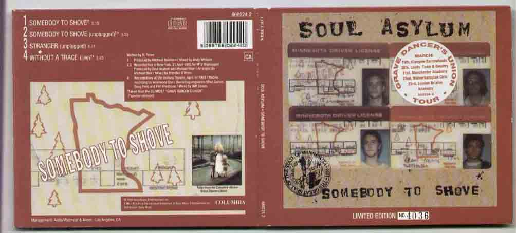 SOUL ASYLUM - Somebody To Shove LP