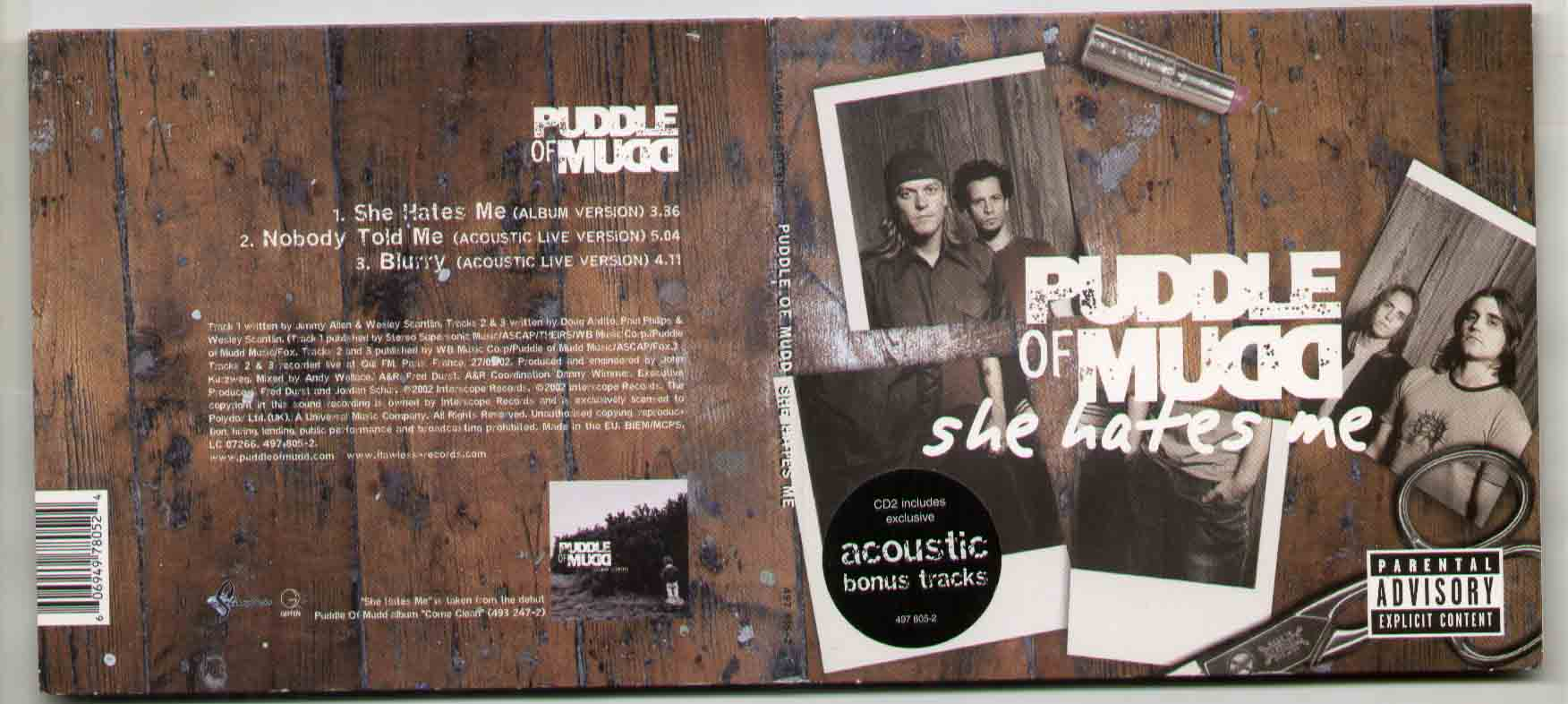 Puddle Of Mudd She Hates Me Records Lps Vinyl And Cds