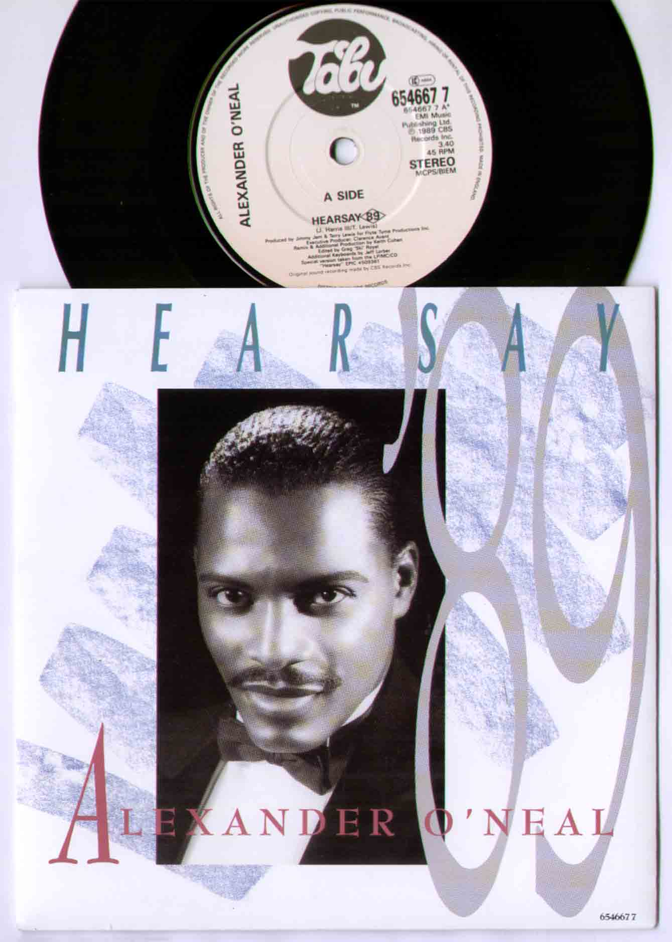 Alexander O'Neal Hearsay+89 7''