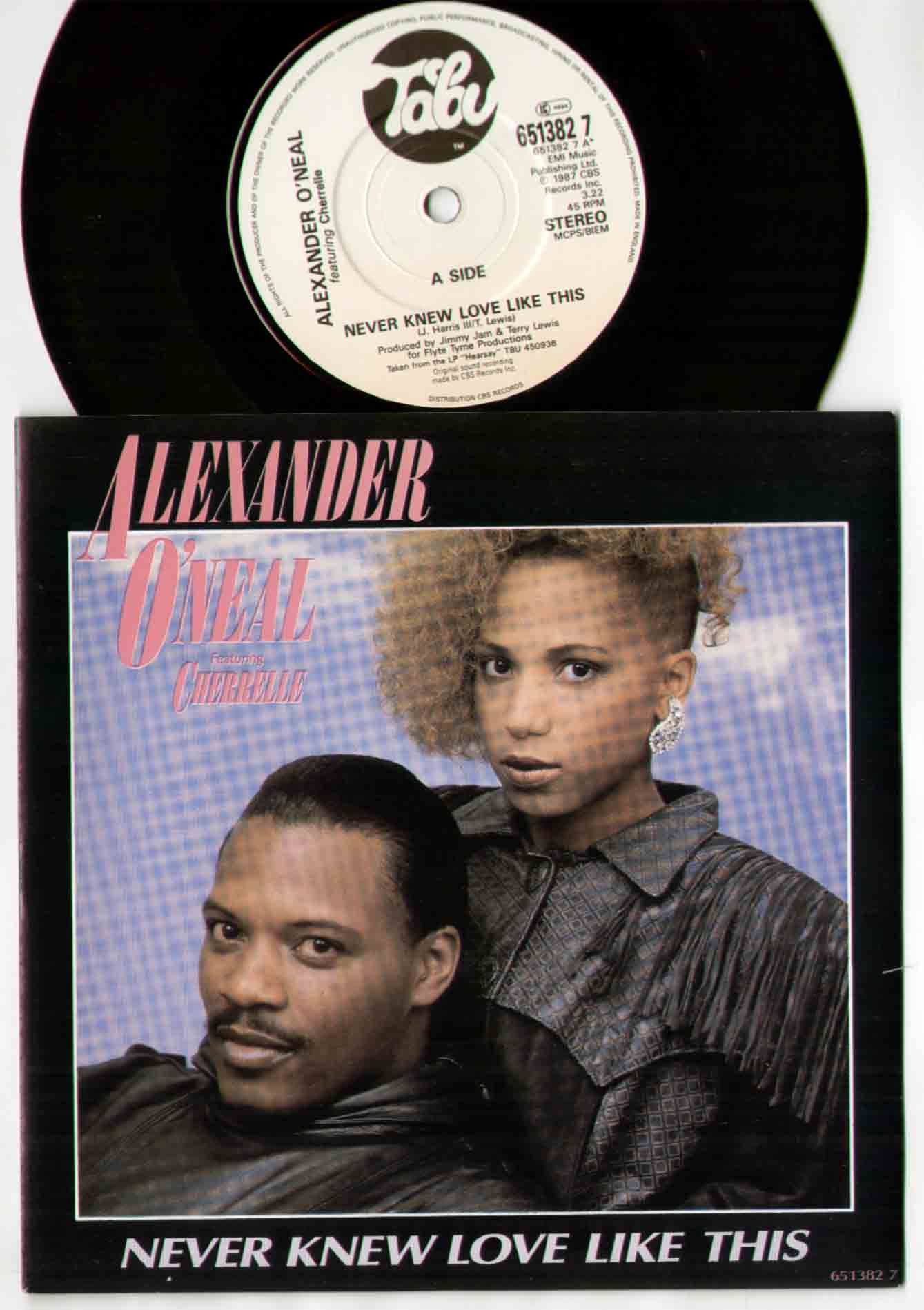 Alexander O'Neal Never+Knew+Love+Like+This 7''