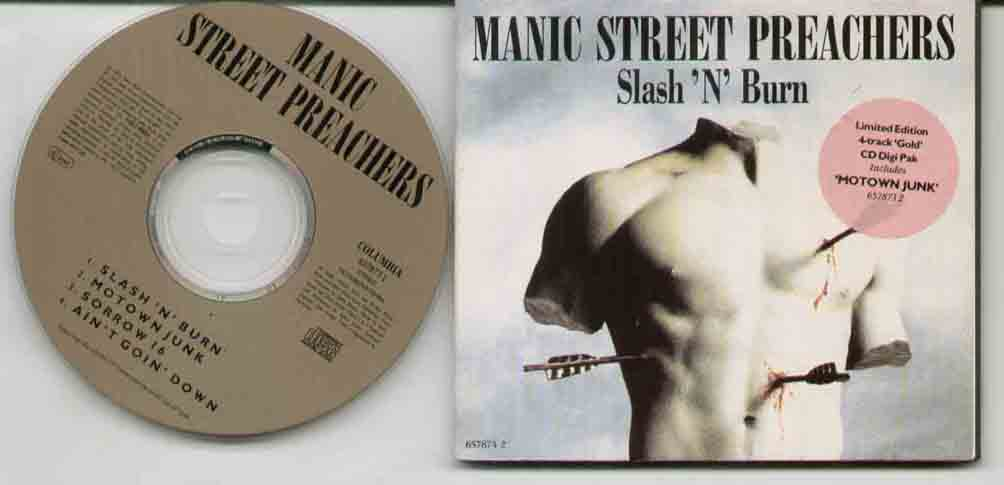 Manic Street Preachers Slash+N+Burn CD