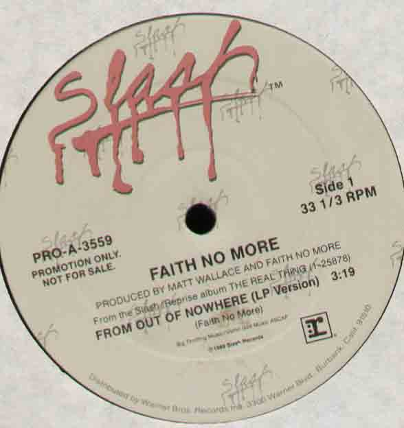 FAITH NO MORE - From Out Of Nowhere Single
