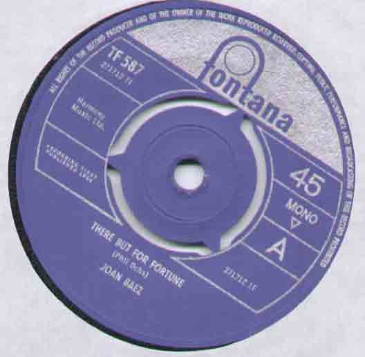 Joan Baez There+But+For+Fortune 7''