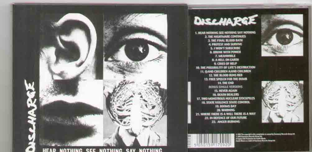 Discharge Hear+Nothing+See+Nothing+Say+Nothing CD