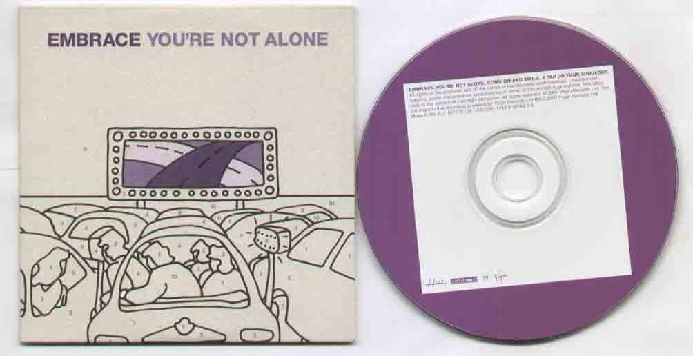 YOU'RE NOT ALONE - 3 track sampler CD single