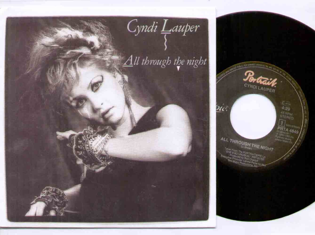 Cyndi Lauper - All Through The Night Record