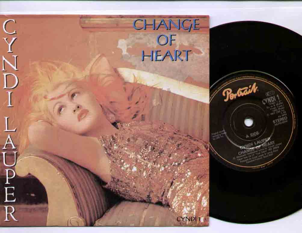 Cyndi Lauper Change Of Heart 7''
