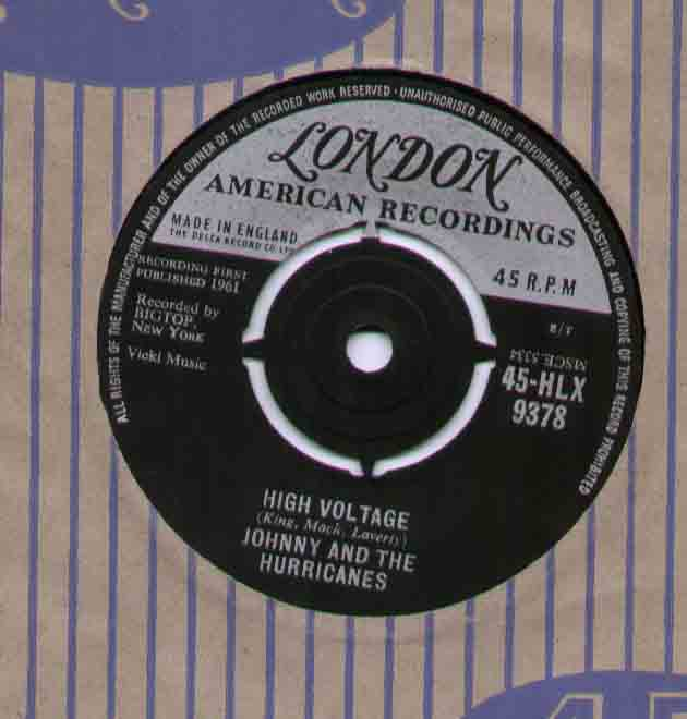 Johnny And The Hurricanes High+Voltage 7''