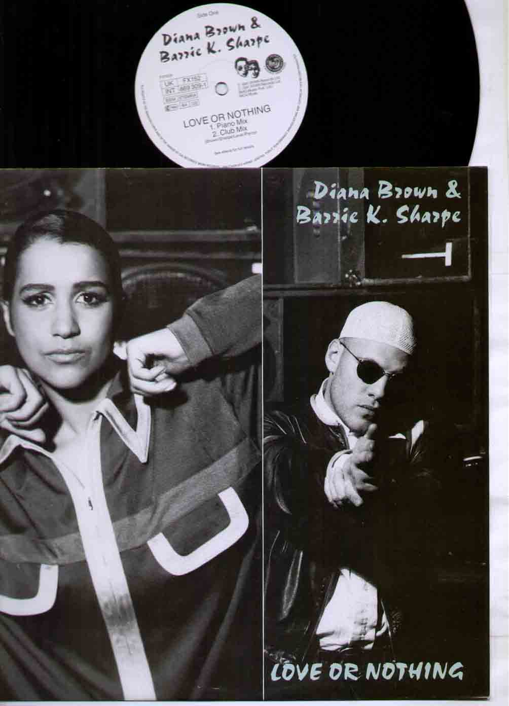DIANA BROWN AND BARRIE K SHARPE - LOVE OR NOTHING - Maxi 45T