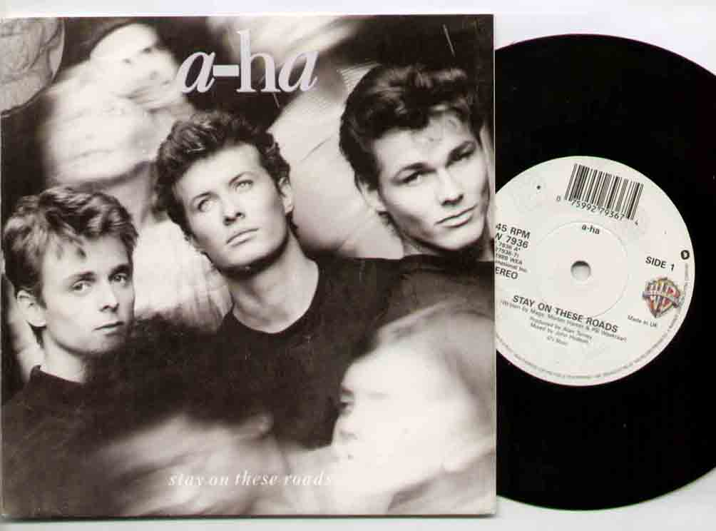 A-Ha - Stay On These Roads 7 Inch Vinyl