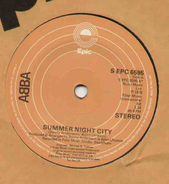Abba - Summer Night City LP