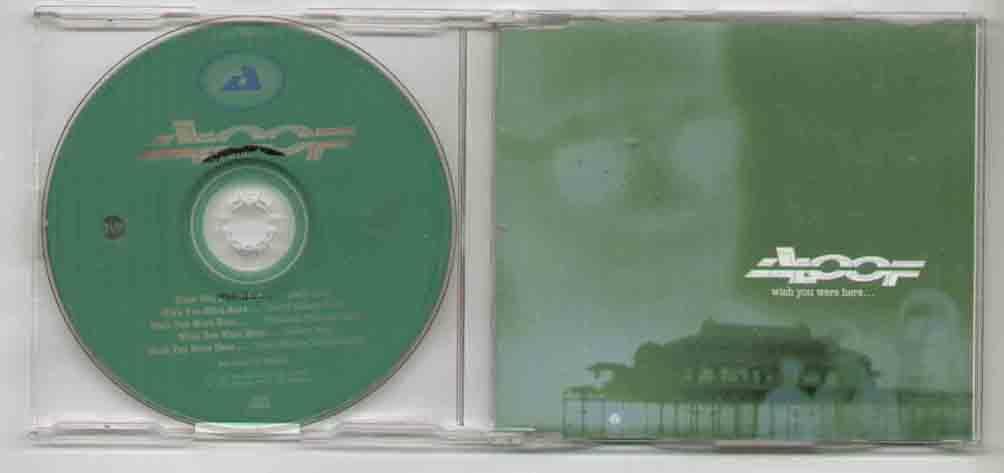 ALOOF - Wish You Were Here ( New Unplayed 5 Trk Radio Edit ) - CD