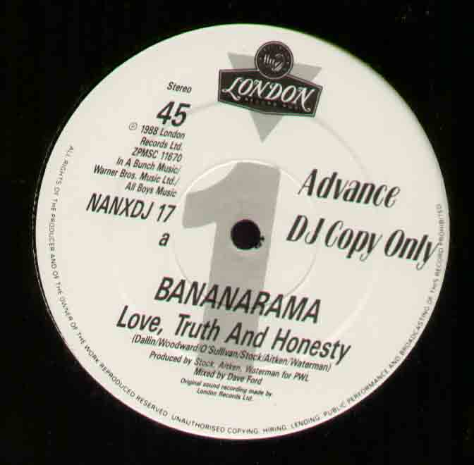 Bananarama Love+Truth+And+Honesty 12''