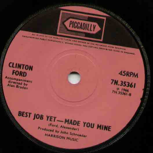 CLINTON FORD - Run To The Door LP