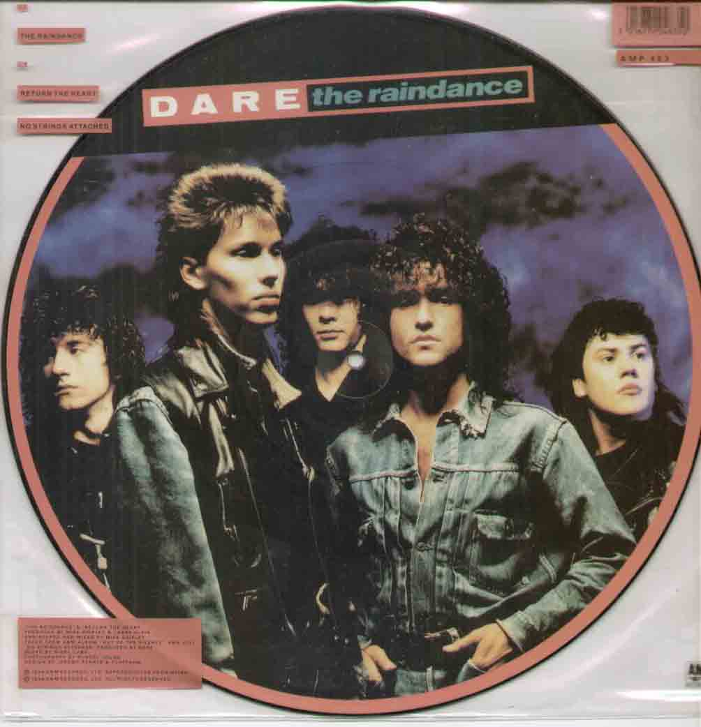 DARE - RAINDANCE NEW UNPLAYED 3 TRACK PICTURE DISC b/w return the heart - no strings attached - 12 inch 45 rpm