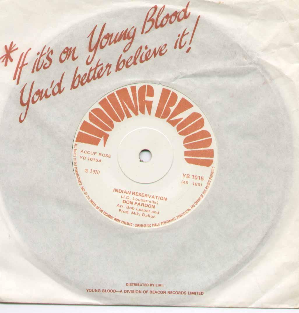 INDIAN RESERVATION - reissue b/w hudson bay
