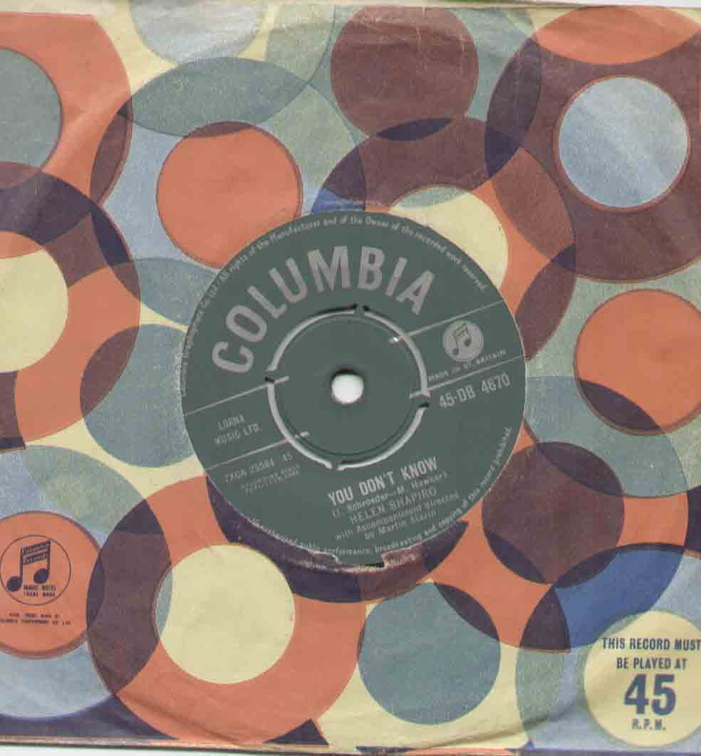 Helen Shapiro You+Don't+Know 7''