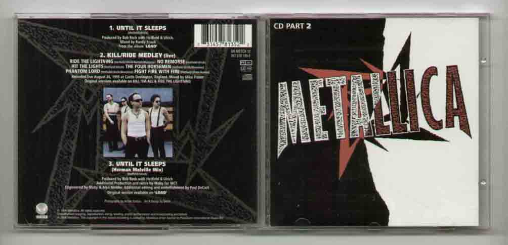 Metallica Until+It+Sleeps CD