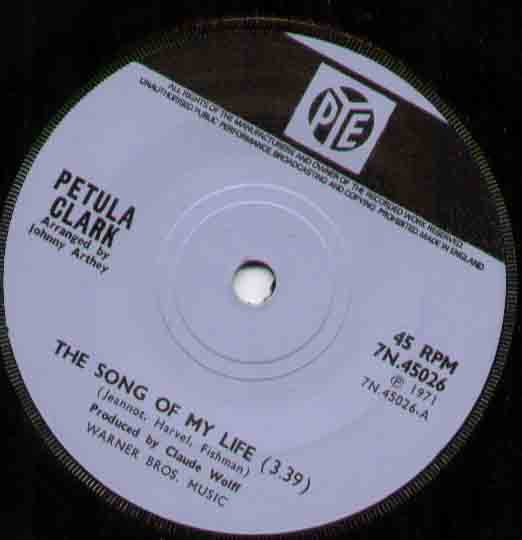 Petula Clark Song+Of+My+Life 7''