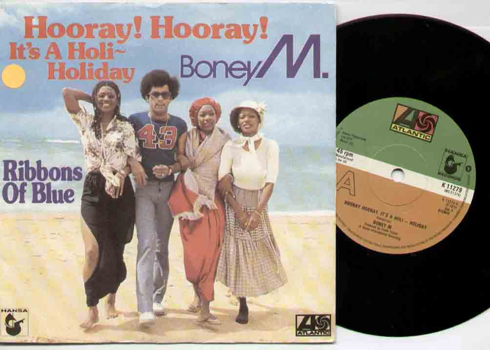 Boney M Hooray+Hooray 7''