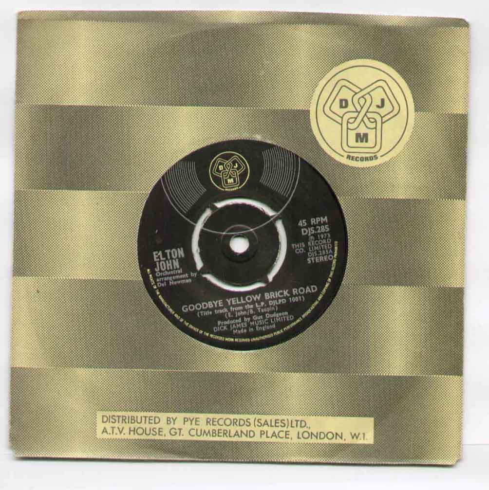 Elton John Goodbye+Yellow+Brick+Road 7''