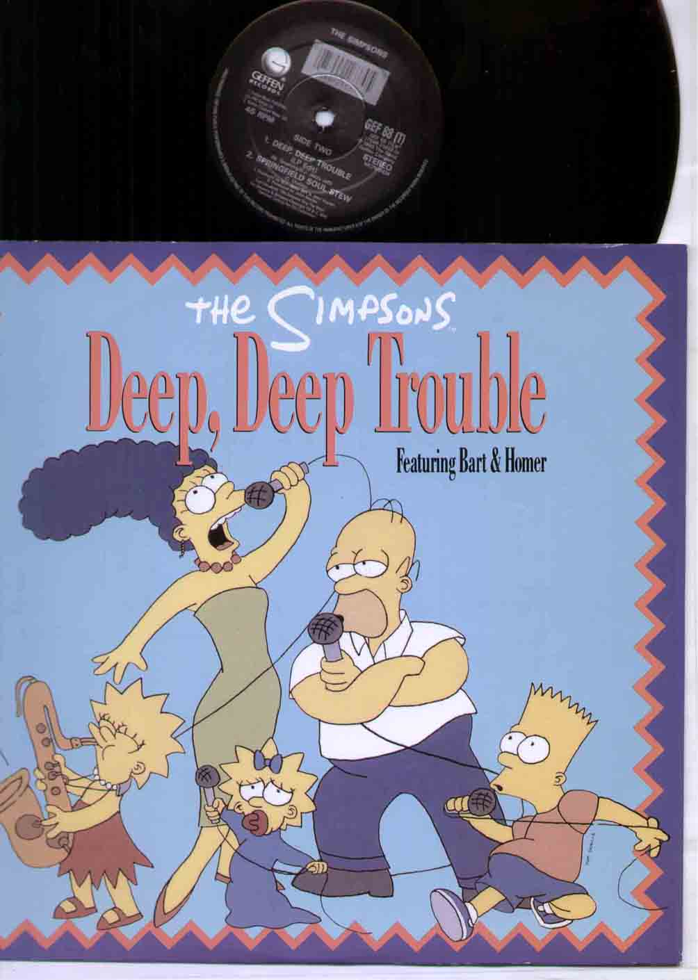 SIMPSONS - DEEP DEEP TROUBLE - 12 inch 45 rpm
