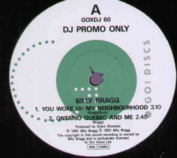 Billy Bragg You+Woke+Up+My+Neighbourhood 12''