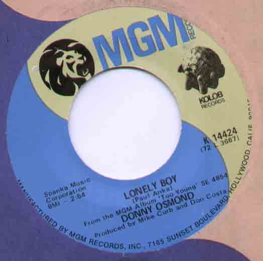Donny Osmond Lonely+Boy 7''