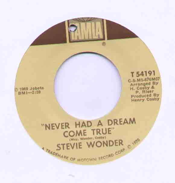Stevie Wonder - Never Had A Dream Come True Album