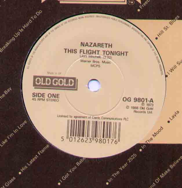 Nazareth - This Flight Tonight Record