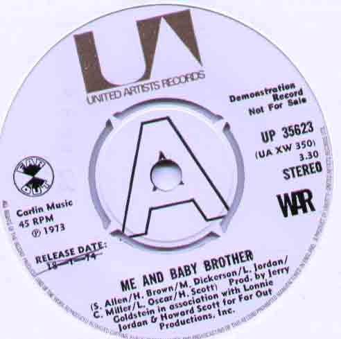 War Me+And+Baby+Brother 7''