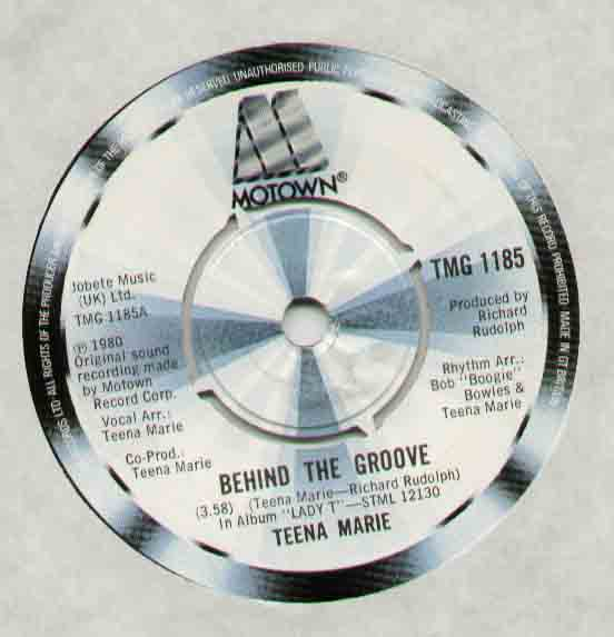 TEENA MARIE - Behind The Groove Single