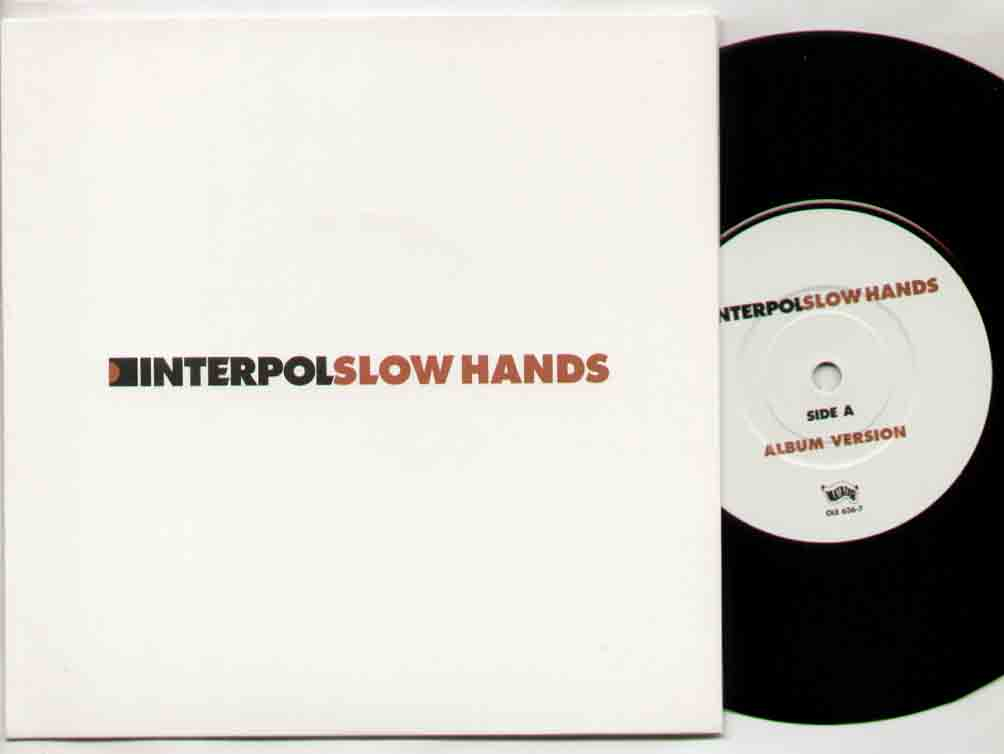 Interpol Slow+Hands 7''