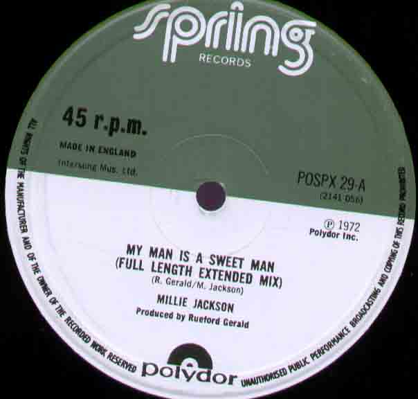 Millie Jackson My+Man+Is+A+Sweet+Man 12''