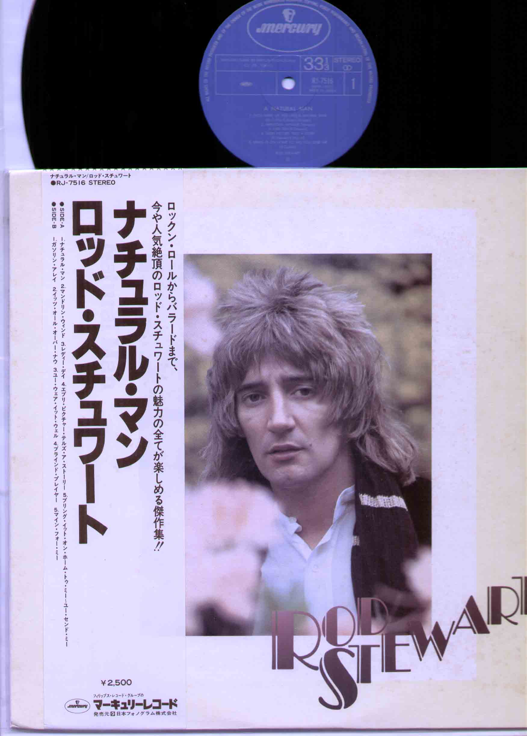 ROD STEWART - A Natural Man 1978 rare 10 trk japan only compilation - nice copy disc near mint sleeve excellent wi - 33T