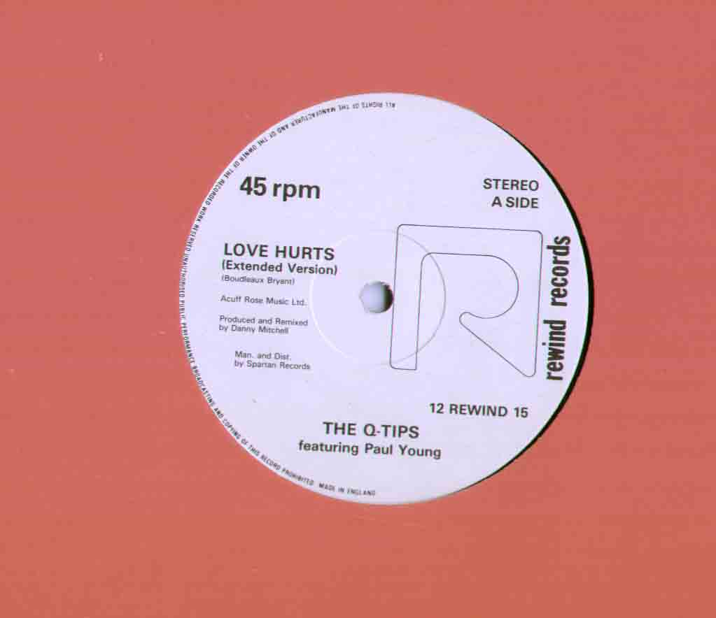 Q Tips Featuring Paul Young Love+Hurts 12''