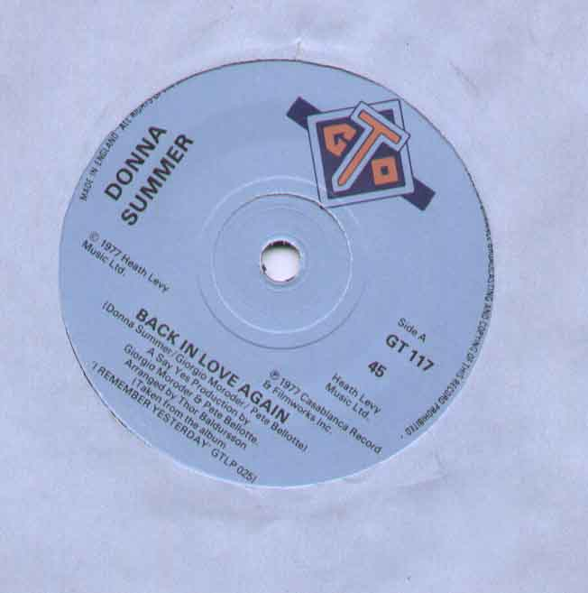 Donna Summer - Back In Love Again Record