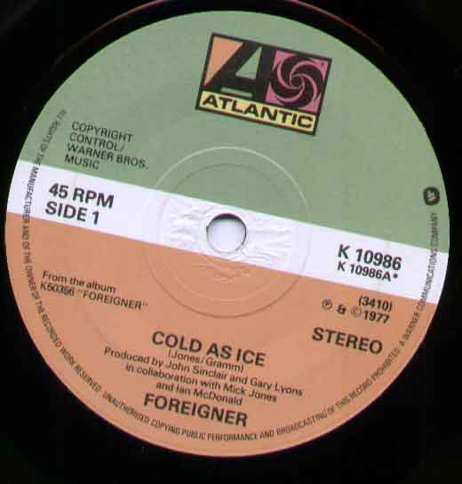 Foreigner - Cold As Ice Album