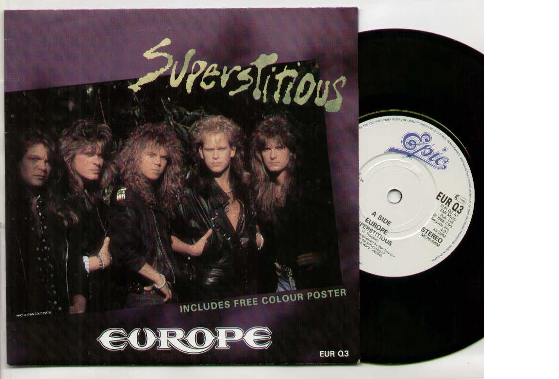 Europe - Superstitious - Limited Poster Sleeve