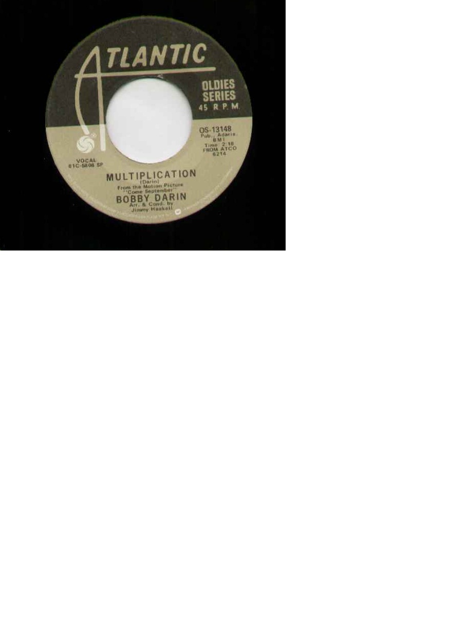 Bobby Darin Multiplication 7''
