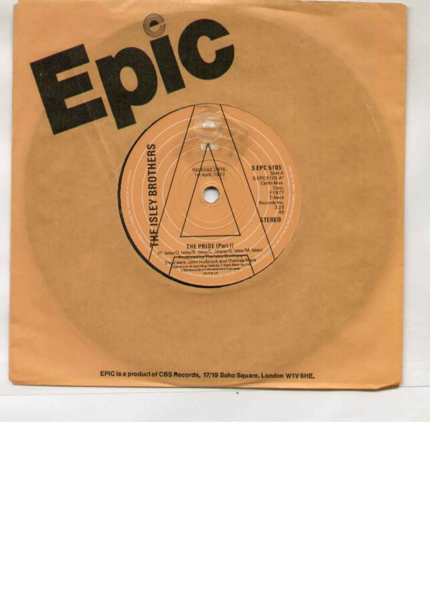 Isley Brothers The+Pride 7''