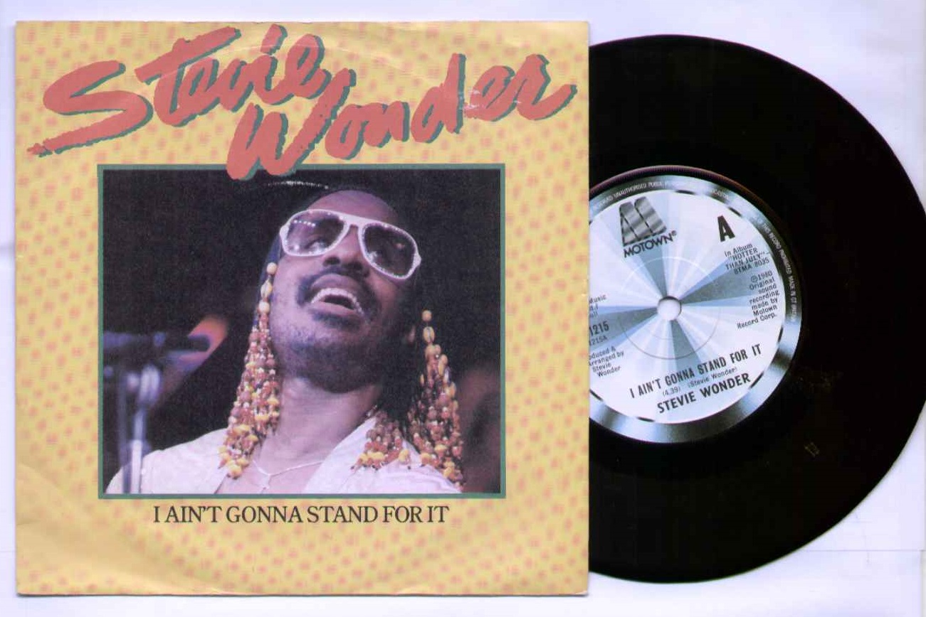 STEVIE WONDER - I AIN'T GONNA STAND FOR IT - 45T (SP 2 titres)